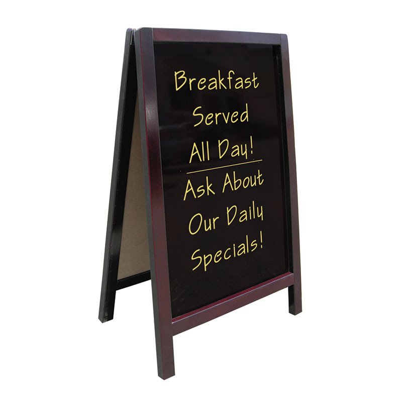 "Update International ASIGN-2542 A"" Style Sign - 25x41-1/2"" Non-Magnetic, Wood Frame"