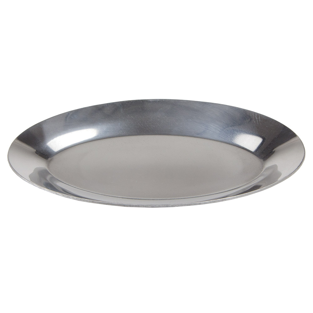 "Update International AZP-12 Oval Sizzle Platter- 12-3/4x8-1/2"" Aluminum"