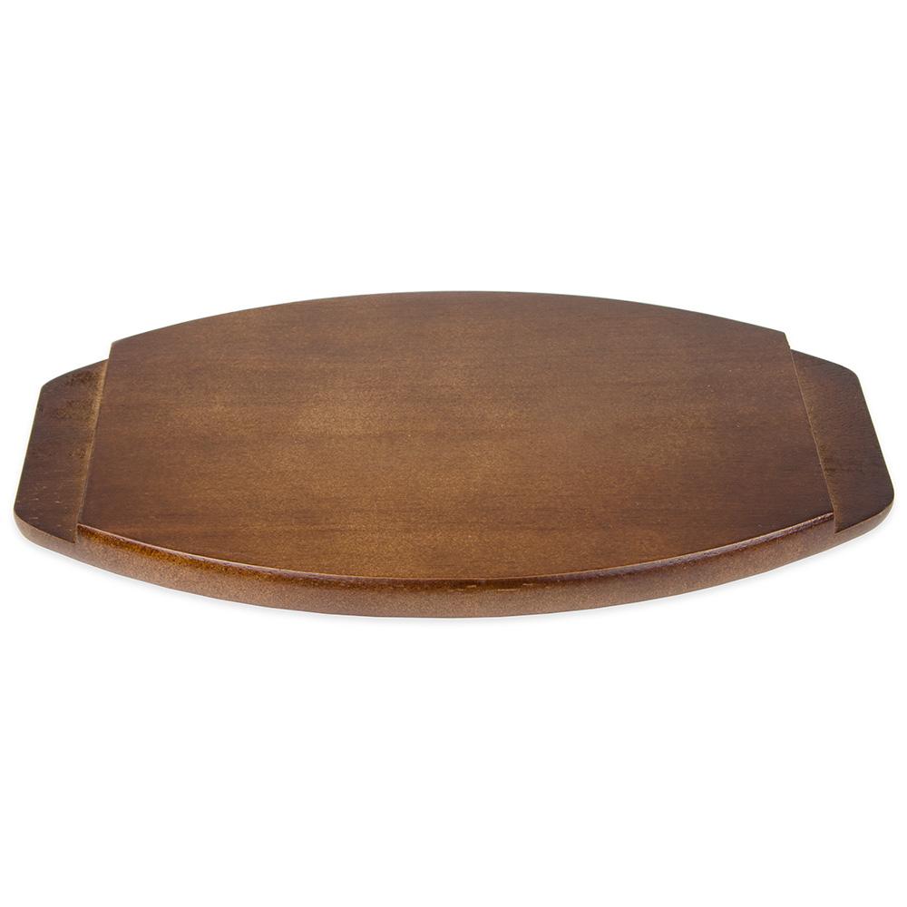 "Update AZP-12WU Oval Platter Underliner - 13-1/2x9-1/4x3/4"" Wood"
