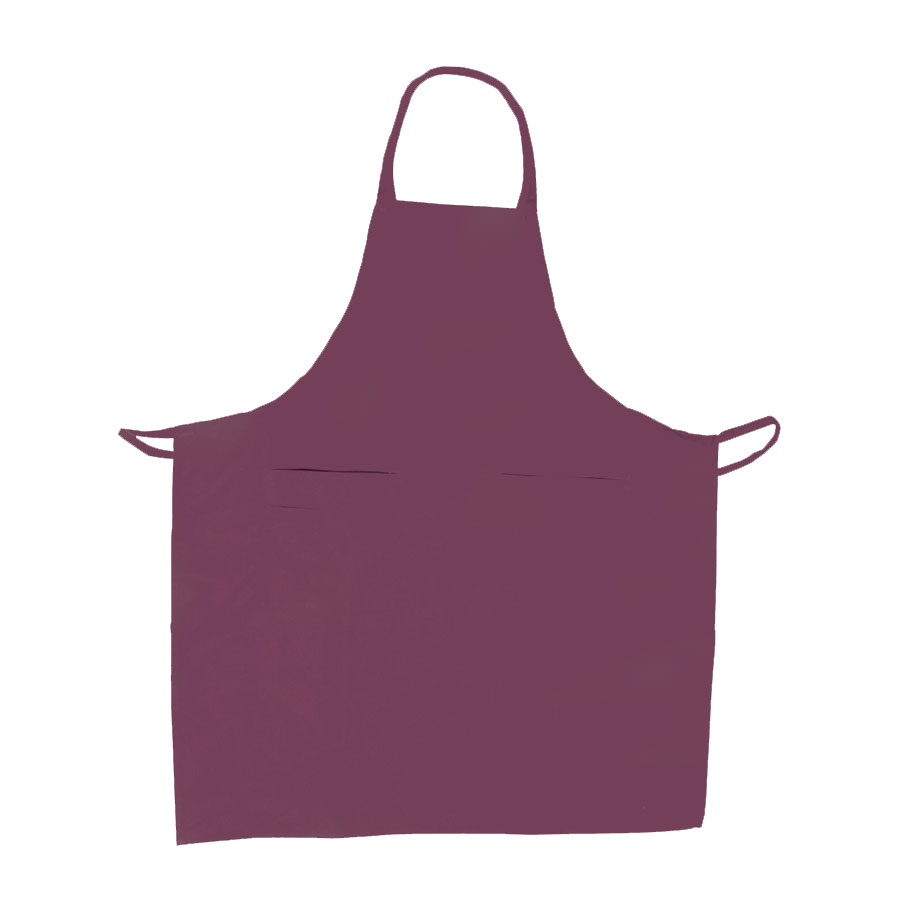 "Update BAP-BU Bib Apron - (3)Pocket, 33x28-1/2"" Poly/Cotton, Burgundy"