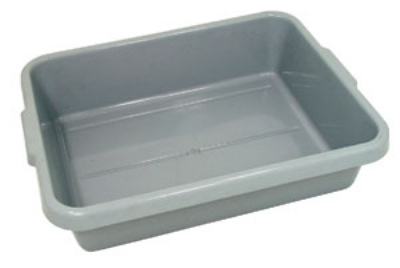 "Update International BB-7G Tote Box - 20-1/2x15-1/4x7"" Polypropylene, Gray"