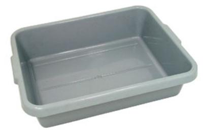 "Update International BB-7G Tote Box - 20-1/2x15-1/4x7"" Polypropylene, Gray"