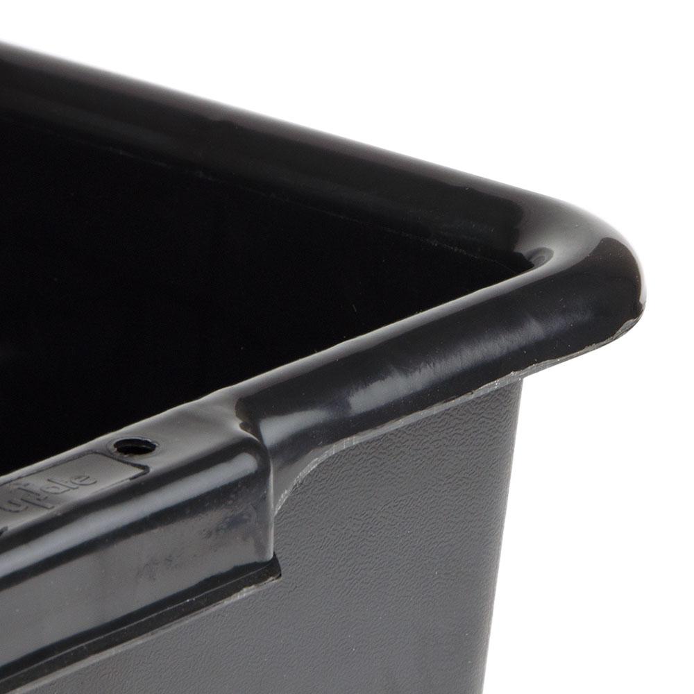 "Update BB-7BN Tote Box - 20-1/2x15-1/4x7"" Polypropylene, Black"