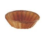 "Update BB-8R 8-1/4"" Round Cracker Basket - Polypropylene, Natural"