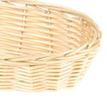"""Update BB-94 Oblong Cracker Basket - 9x3-3/4x2"""" Polypropylene, Natural"""