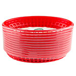 "Update BB96R Oval Fast Food Basket - 9-1/2x7"" Plastic, Red"