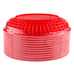 "Update BB96R Oval Fast Food Basket - 9-1/2x6"" Plastic, Red"