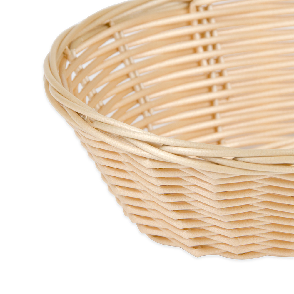 "Update BB-97 Oval Cracker Basket - 9.5"" x 7"", Plastic, Natural"
