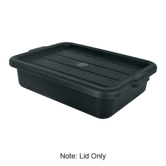 "Update BB-LIDBN Tote Box Cover - 20-1/2x15-1/4"" Black"