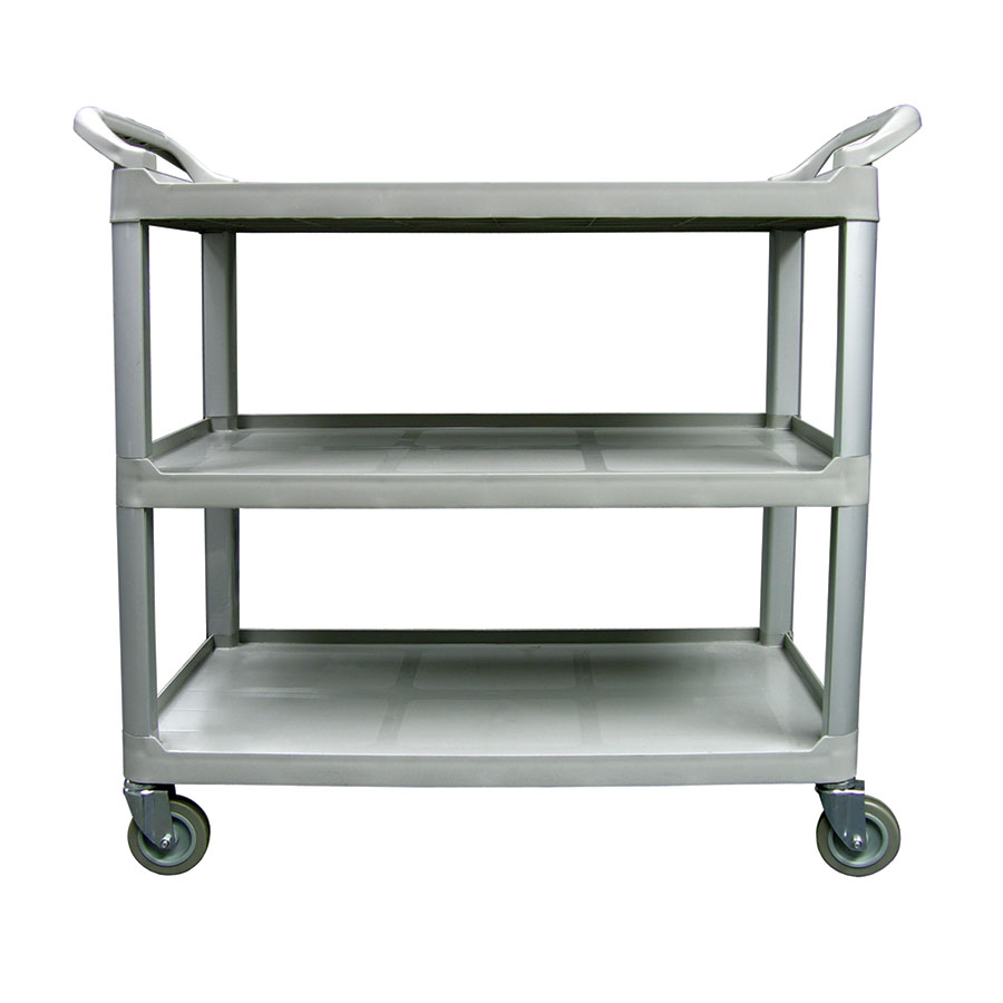 "Update International BC-3520BZ 3-Tier Bus Cart - 300-lb Capacity, 40x20x38"" Black"