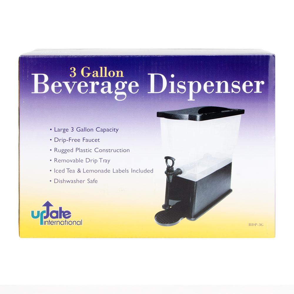 Update BDP-3G 3-gal Beverage Dispenser - Drip Tray, Labels, Plastic