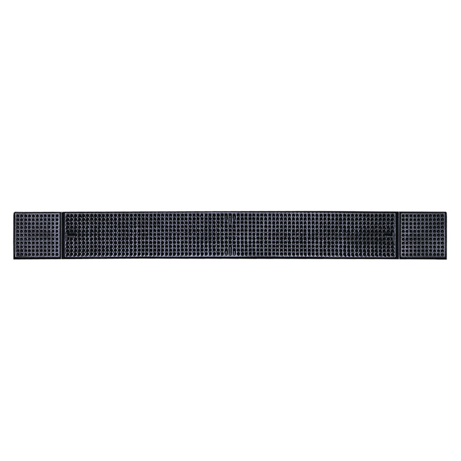 "Update BM-27BK Bar Mat - 27x3-1/4"" Black"