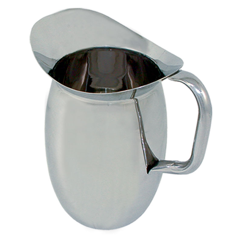 Update International BP-3G 3-qt Bell Pitcher with Guard - Stainless