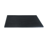 "Update International BSM-1218BK Bar Service Mat - 17-3/4x12x1/2"" Black"