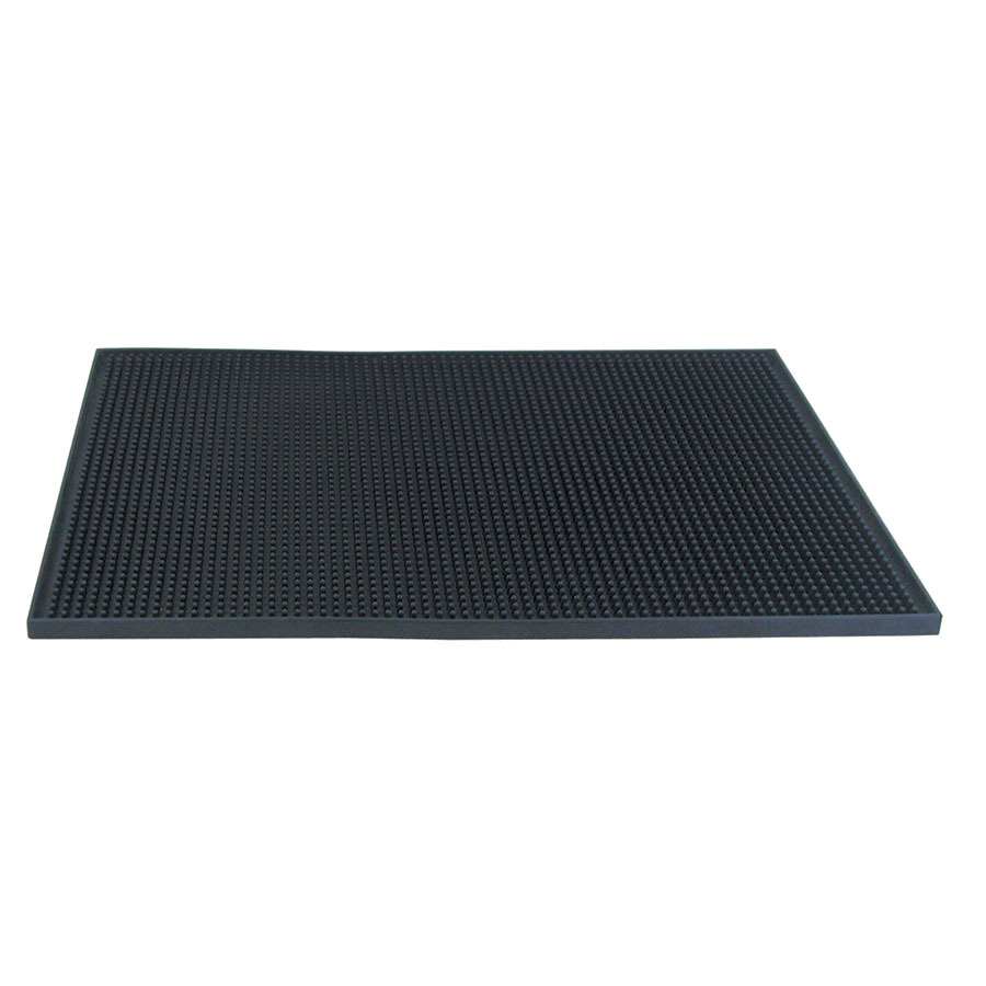"Update BSM-1218BK Bar Service Mat - 17-3/4x12x1/2"" Black"