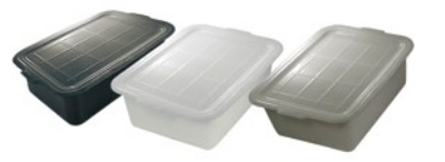 "Update International BB-5GN Tote Box - 20-1/2x15-1/4x5"" Polypropylene, Gray"