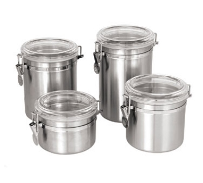Update International CAN-8AC 70-oz Storage Canister - Stainless/Plastic Lid
