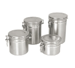 Update International CAN-7SS 55-oz Storage Canister - Stainless