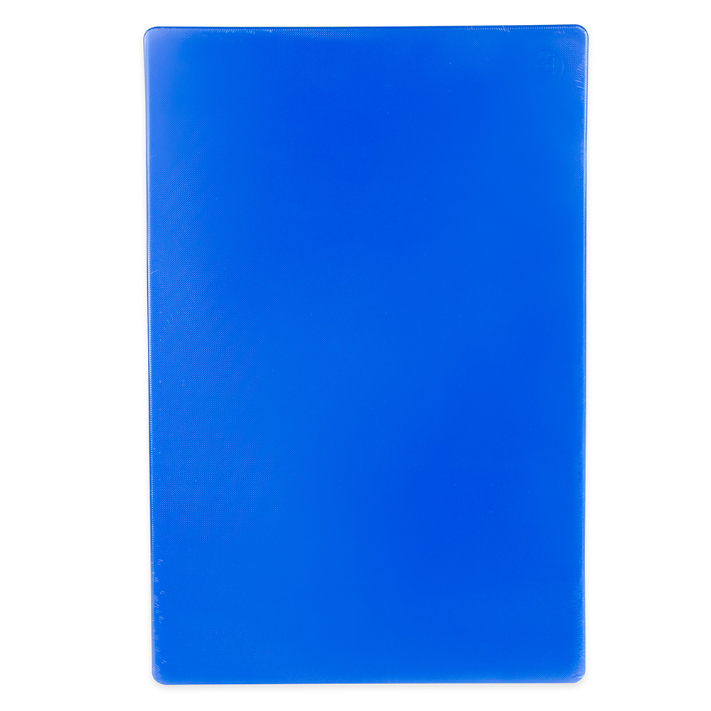 "Update International CBBL-1824 Poly Cutting Board - 18x24x1/2"" Blue"