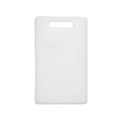 "Update CB-610 Poly Cutting Board - 6x10x1/2"" White"
