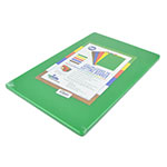 "Update CBGR-1218 Poly Cutting Board - 12x18x1/2"" Green"