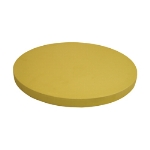 "Update CBR-14R Round Cutting Board - 14x3/4"" Synthetic Rubber"