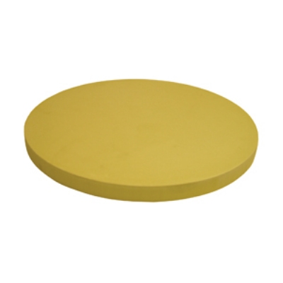 "Update International CBR-16RH Round Cutting Board - 16x1"" Synthetic Rubber"