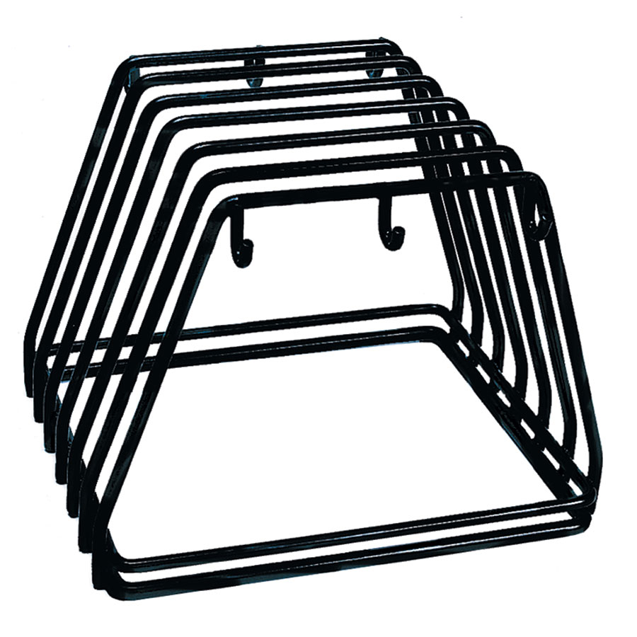 "Update International CBRK-6N Cutting Board Rack - Holds 6 Racks, 12x9x10"" Black, Steel"