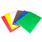 "Update CBS-1218 Poly Cutting Board Set - 12x18x1/2"" (6)Assorted Colors"