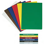 """Update CBS-1824 Poly Cutting Board Set - 18x24x1/2"""" (6)Assorted Colors"""