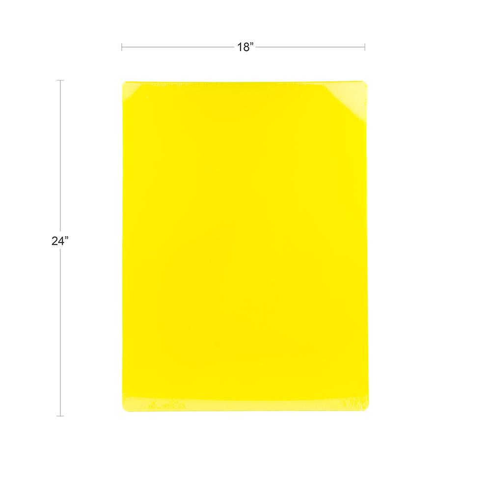 "Update CBYE-1824 Poly Cutting Board - 18x24x1/2"" Yellow"