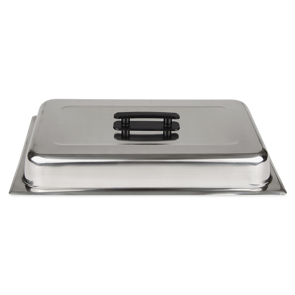 Update CC-1/DCP Full-Size Chafer Dome Cover - Black Handle, Stainless