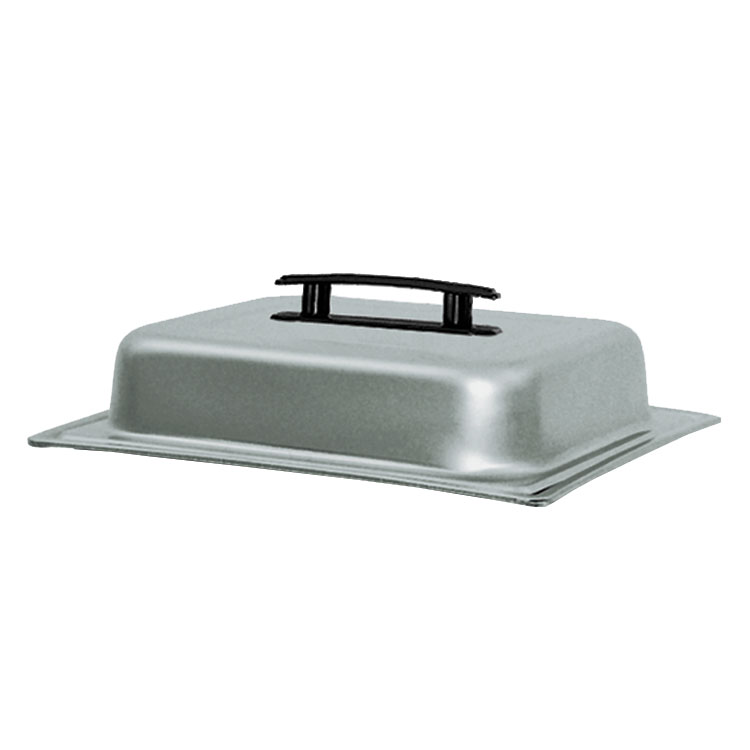 Update International CC-2/DCP Half-Size Chafer Dome Cover - Black Handle, Stainless