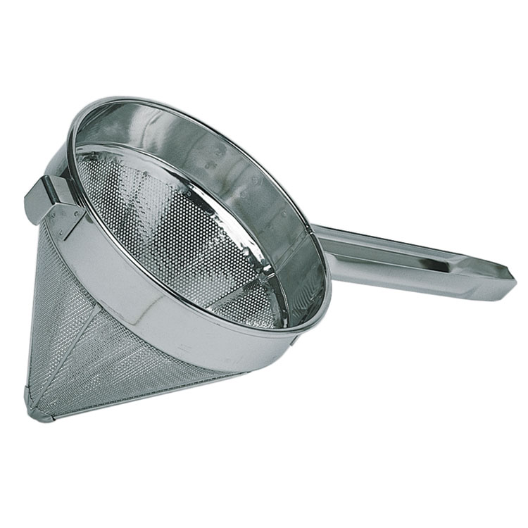 "Update International CCB-10 10"" Super Fine Bouillon Strainer - Stainless"
