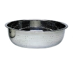 "Update International CCOL-15L 15"" Chinese Style Colander - 4.5mm Holes, Stainless"