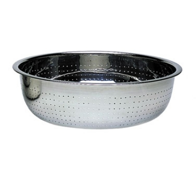"Update CCOL-15S 15"" Chinese Style Colander - 2mm Holes, Stainless"
