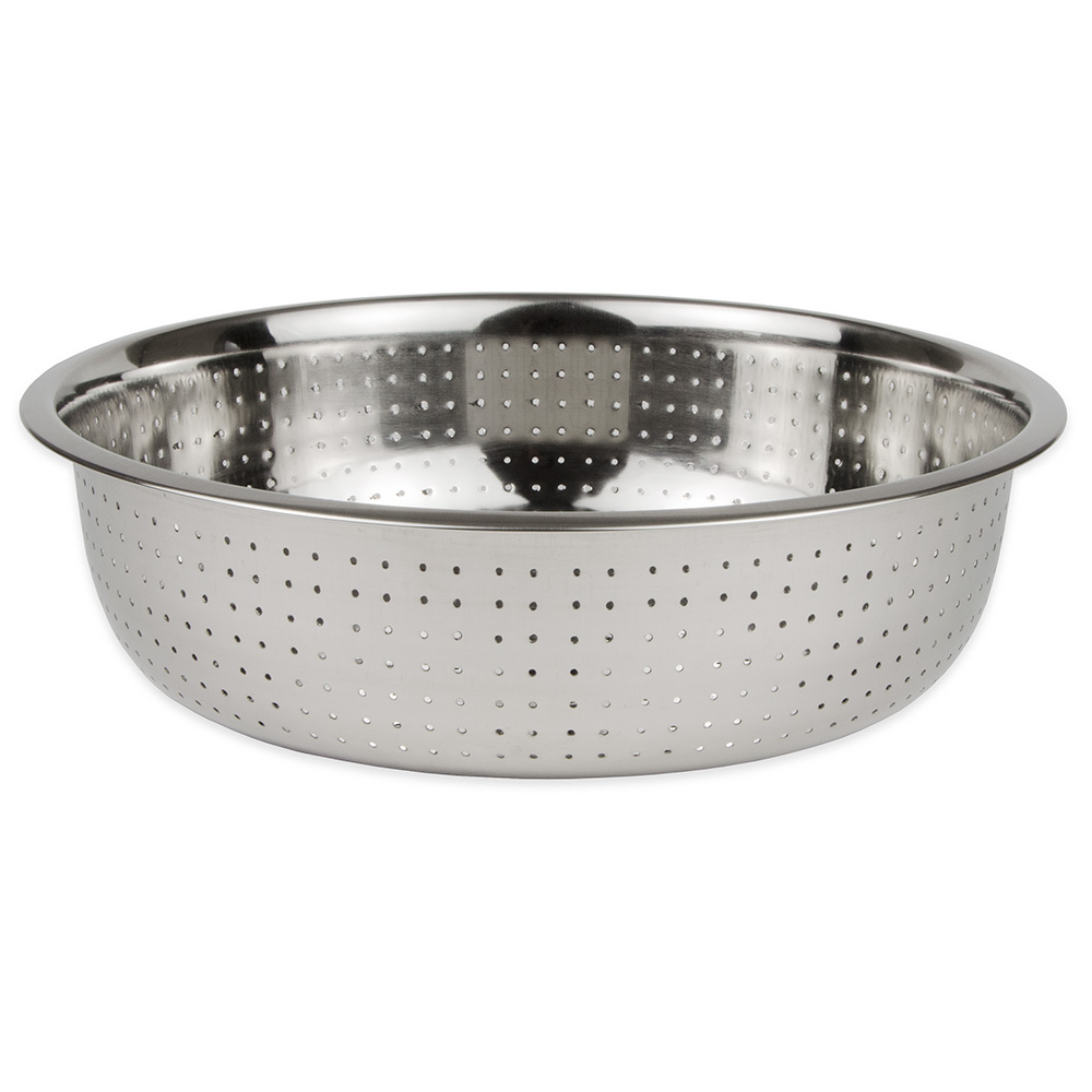 """Update CCOL-15S 15"""" Chinese Style Colander - 2mm Holes, Stainless"""
