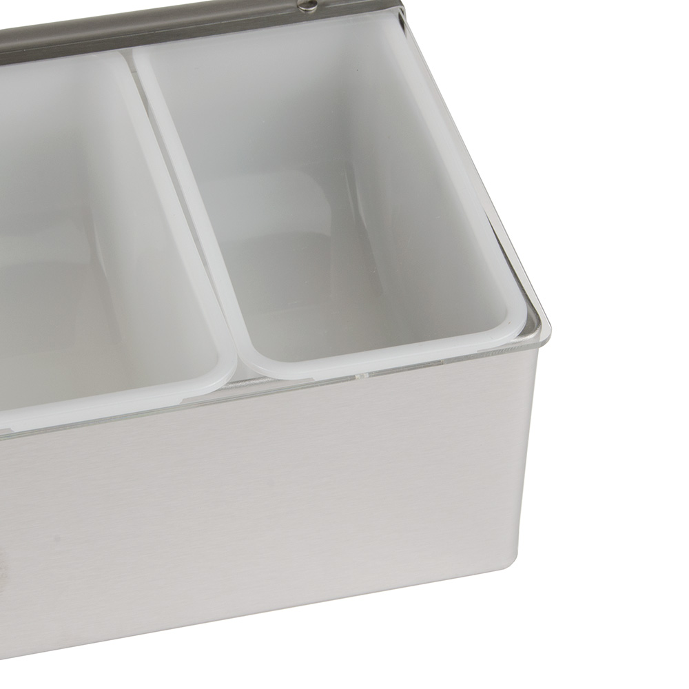 """Update CD-6 Condiment Dispenser - (6)Compartments, 18x6x3-1/2"""" Stainless"""