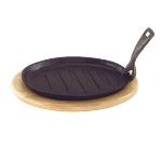 "Update CIZP-11 Oval Steak Platter - 10-1/4x6-5/8x7/8"" Cast Iron"