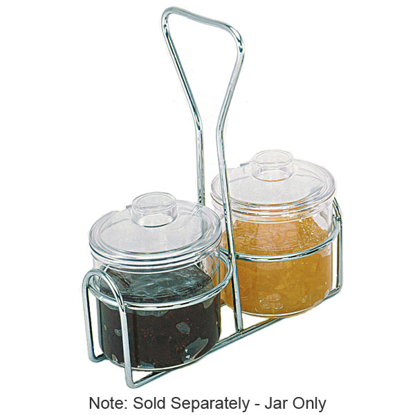 Update International CJ-7AC 7-oz  Condiment Jar with Cover - Plastic
