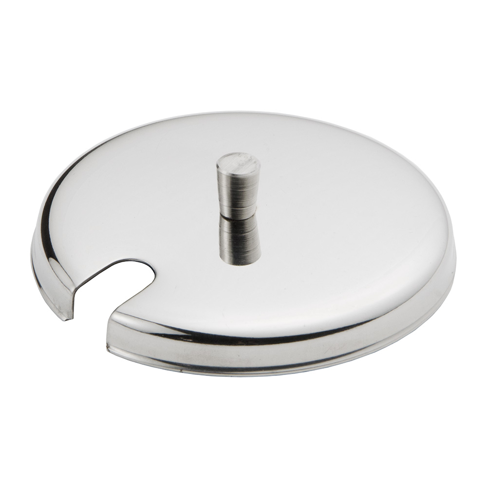 Update International CJ-7SST Condiment Jar Cover for CJ-7GL - Stainless