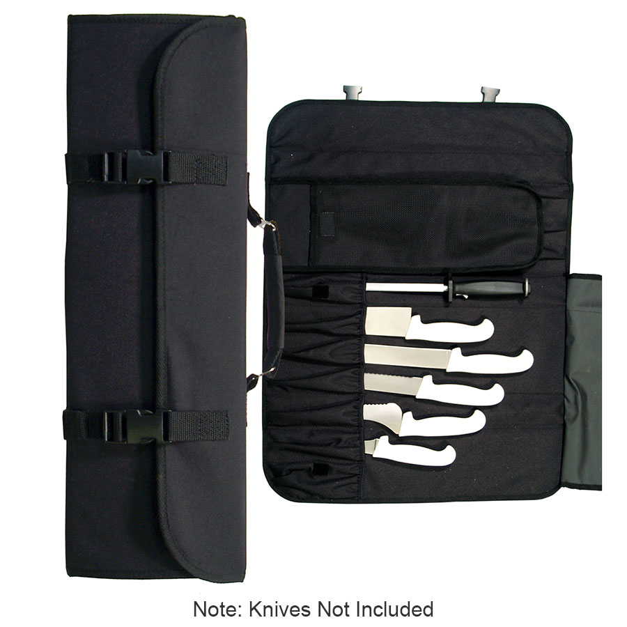 Update CP-10 10-Pocket Cutlery Pouch with Handle - Black Nylon