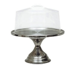 "Update International CS-13 6-1/2"" Cake Stand - Stainless"