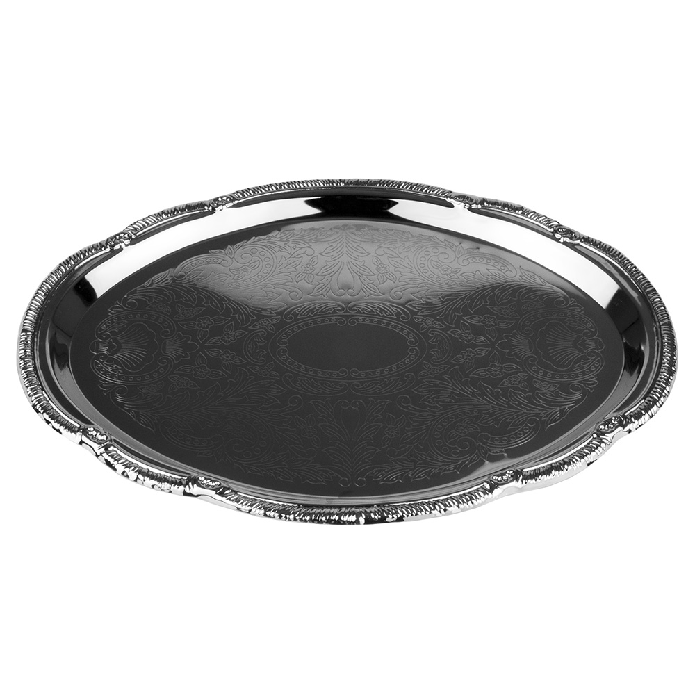 Update CT1510V Oval Chrome Tray - 15x10