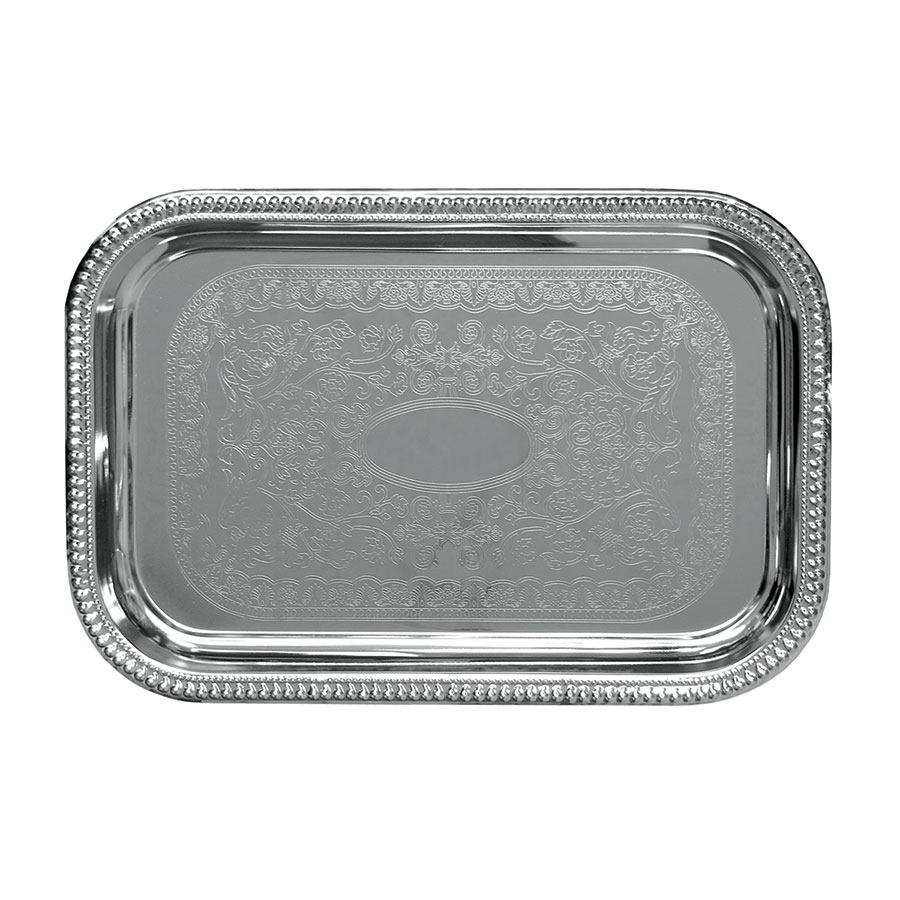 Update International CT-1812B Oblong Chrome Tray - 18x12