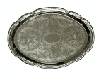 Update International CT-1813V Oval Tray, 18 x 13 in, Chrome Plated