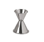 Update International JI-1 Dual Cup Jigger - 1/2-oz/1-oz Stainless