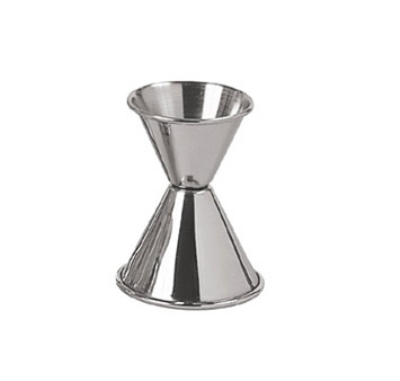 Update International JI-5 Dual Cup Jigger - 1-oz/1-1/2-oz Stainless