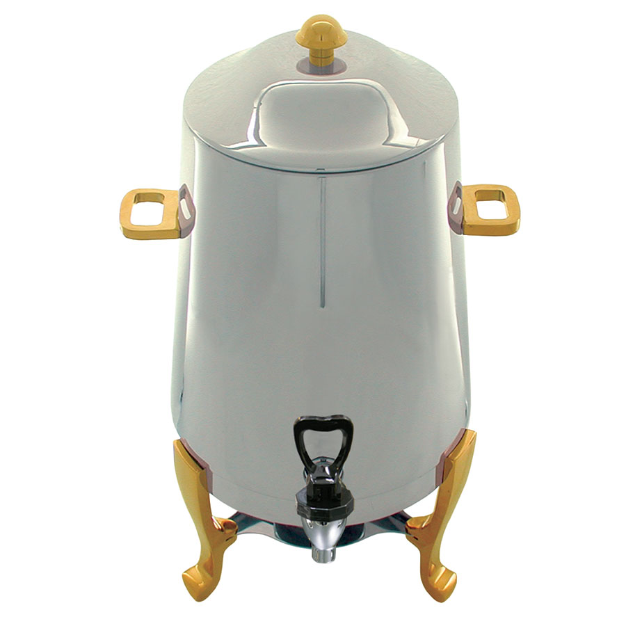 Update CU-30GD 3-gal Coffee Urn - Fuel Holder, Gold Accent, Stainless