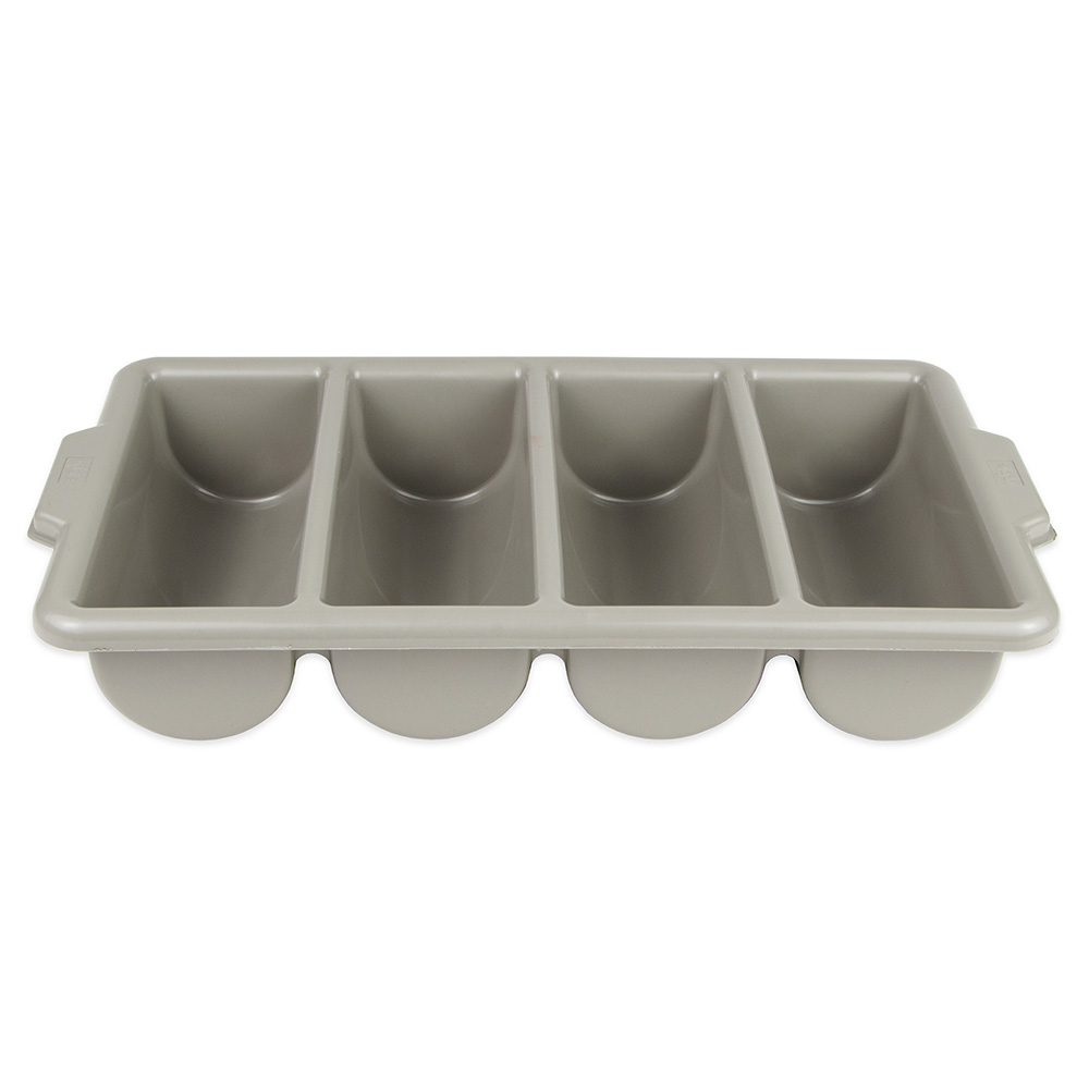 Update CUT-4PPN 4-Compartment Cutlery Box - Polypropylene, Gray